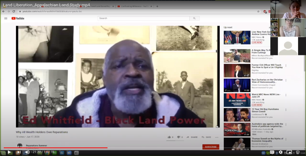 Land as liberation workshop discusses Black Land and Power video on reparations
